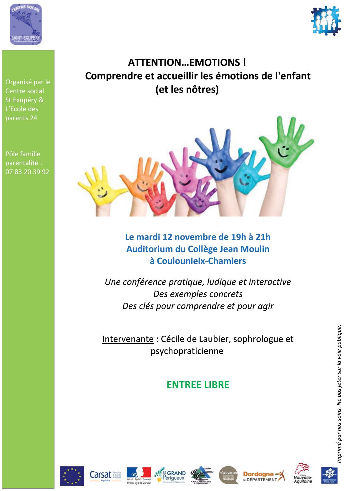 Conférence sur les émotions de l'enfant -Cécile de Laubier
